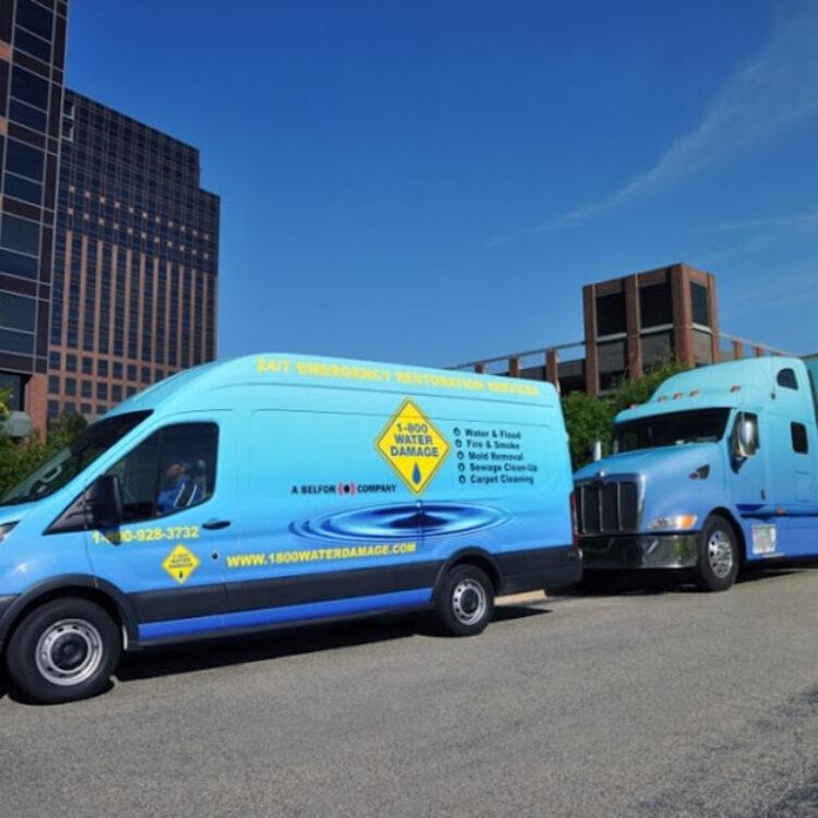 1800 service van and tractor trailer