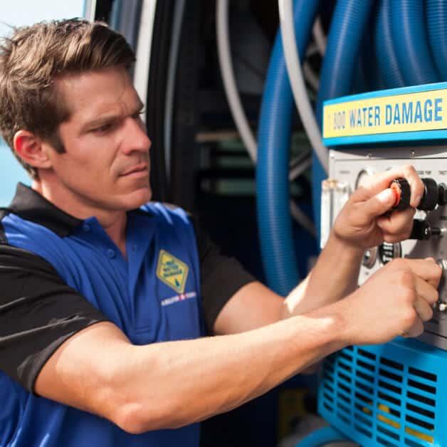 service tech at van