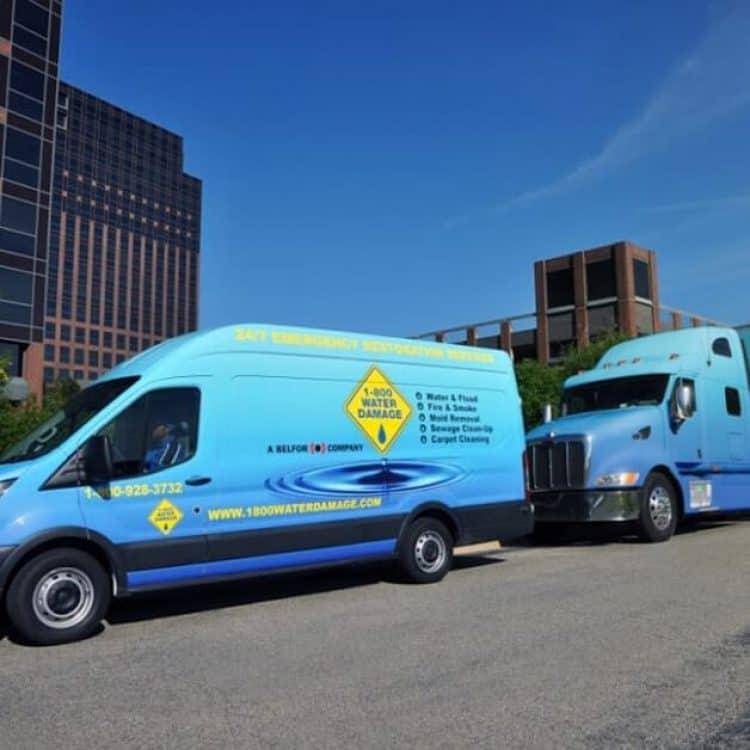 1800 tractor trailer and service van